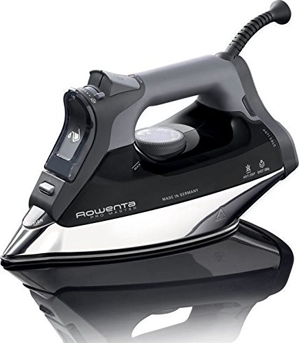 rowenta dw8156 1800 watt promaster steam iron with platinium soleplate black appliancesy. Black Bedroom Furniture Sets. Home Design Ideas