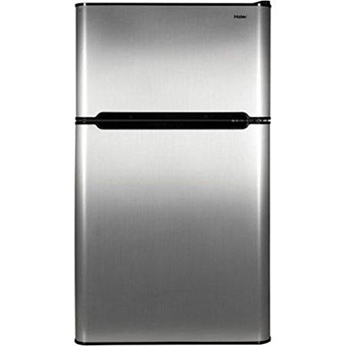 Haier 3 2 Cu Ft Refrigerator Stainless Steel 2 Door For