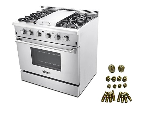 36 Professional Steel Gas Range With Griddle Lp