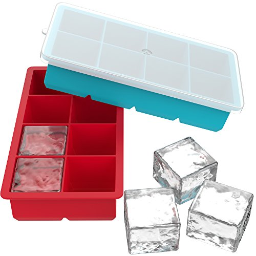 Farielyn X Ice Cube Trays 2 Pack Food Grade Silicone