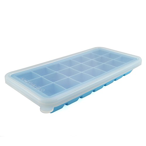 Komax Ice Cube Tray With No Spill Cover Set Of 4 Bpa Free