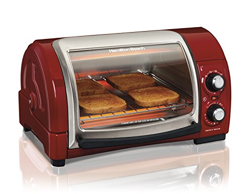 Toaster Oven Parts And Accessories ~ Hamilton beach easy reach toaster oven red