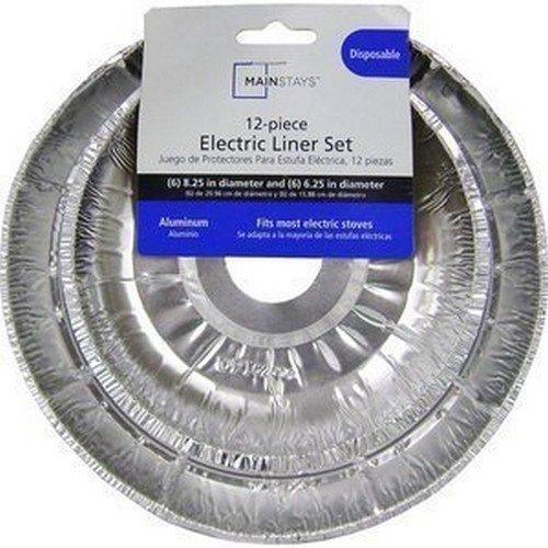 Stanco 4 Pack Universal Electric Range Chrome Reflector
