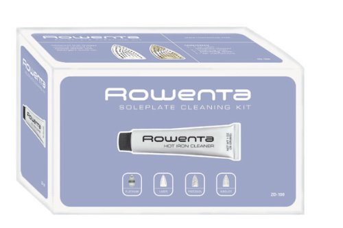 how to clean rowenta iron plate