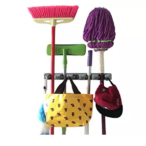 Strongest Grippers Mop Broom Holders With 5 Ball Slots And 6 Hooks. Items  Guaranteed Non Slide. Life Time Guarantee.