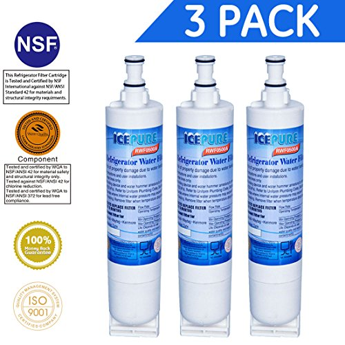 Icepure Rwf0900a 3pack Refrigerator Water Filter
