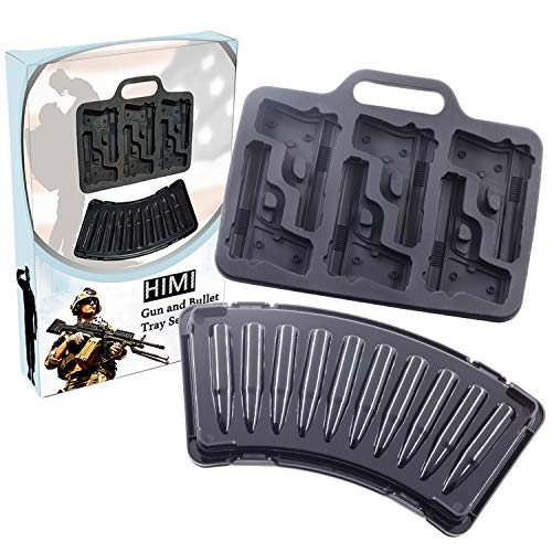 Image Result For Himi D Pistol Gun And Bullet Ice Cube Trays Set Perfect For Cake Pudding Jelly Chocolate Candy Whiskey Cocktails And Men Military Fans Pieces